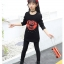 C129-29 เสื้อกันหนาวเด็กสีดำ ปักลาย KISS ผ้าขนนุ่ม สวย ใส่อุ่น size 120-160 thumbnail 2