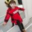 C117-43 เสื้อกันหนาวเด็ก สีแดง ลายสวย บุขนกำมะหยี่นุ่มๆเพิ่มความอุ่น เนื้อนุ่ม อุ่นสบายๆ size 140-160 พร้อมส่ง thumbnail 2