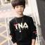 C123-56 เสื้อกันหนาวเด็กบุขนนุ่ม สกรีนลาย สีดำสวย ใส่อุ่นสบาย size 120-160 thumbnail 1