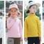 C122-85 เสื้อกันหนาวสีเหลือง มีขนกำมะหยี่นุ่ม ใส่ได้ทั้งชายหญิง สวย ใส่อุ่น size 110-160 thumbnail 3