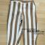 กางเกงห้าส่วน ผ้ามิริน ลายริ้ว สีน้ำตาล เอว 32-44 นิ้ว thumbnail 1