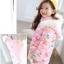 C127-49 เสื้อกันหนาวเด็ก สีชมพู ลายดอกไม้สวย ผ้าบุนวมหนานุ่มเนื้อดี แบบสวย บุซับด้านใน ใส่อุ่น size 110-140 thumbnail 2