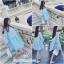 มินิเดรสผ้าลูกไม้สีฟ้าเข้ม ชุดมีซับใน ผ้าไม่บางใส่เป็นเดรส หรือใส่คู่กับเลกกิ้งก็น่ารักมากค่ะ thumbnail 1