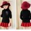 C129-22 เสื้อกันหนาวเด็กคอสูงสีดำ ผ้าขนนุ่ม ใส่อุ่น size 120-160 thumbnail 2