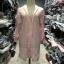 (ภาพจริง)เสื้อคลุมตัวยาว แขนยาวสม๊อคปักดอกไม้ ผ้าชีฟองเนื้อทราย สีชมพู thumbnail 3