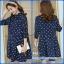 เสื้อคลุมท้องสีน้ำเงินพิมพ์ลายหัวใจผ้าด้านในกำมะหยี่หนา ผ้านอกเป็นลูกฟูก ใส่กันหนาวได้อุ่นค่ะ thumbnail 1