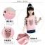 C125-51 เสื้อกันหนาวเด็กสีชมพู พิมพ์ลายนกฮูกน่ารัก ขนกำมะหยี่ ใส่อุ่นสบาย thumbnail 4