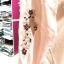 (ภาพจริง)เสื้อคลุมตัวยาว แขนยาวสม๊อคปักดอกไม้ ผ้าชีฟองเนื้อทราย สีชมพู thumbnail 2
