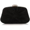 กระเป๋าออกงานทรงสีเหลี่ยมคางหมู สีดำ