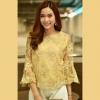 เสื้อลูกไม้สีทอง ปักดิ้นเลื่อมสวยหรู : พร้อมส่ง ( อก 38-42 )