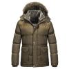 เสื้อกันหนาวผู้ชาย เสื้อแจ็คเก็ตผู้ชายมีฮู้ด ถอดได้ สีทอง ซับขนสัตว์อุ่นๆ