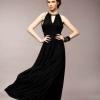 ชุดกระโปรงยาวสวยๆ สีดําเข้ม ผ้าชีฟอง