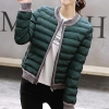 เสื้อกันหนาวผู้หญิงแฟชั่นเกาหลี สีเขียวเข้ม แจ็คเก็ตกันหนาวนุ่มๆ จั้มปลายแขนและชายเสื้อ