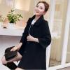เสื้อโค้ทกันหนาวผู้หญิง สีดำ คอบัว ยาวคลุมสะโพก ทรงเก๋ ใส่กันหนาว สวยๆ