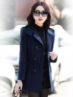 เสื้อโค้ทกันหนาวผู้หญิง สีกรม คลุมสะโพก ใส่เที่ยวต่างประเทศสวยๆ