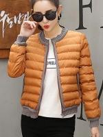 เสื้อกันหนาวผู้หญิงแฟชั่นเกาหลี สีน้ำตาลคาราเมล แจ็คเก็ตกันหนาวนุ่มๆ จั้มปลายแขนและชายเสื้อ