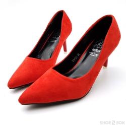 """รองเท้าคัทชูส้นเข็ม Missi [3""""][Red]"""