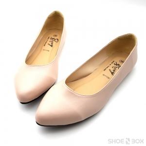 รองเท้าคัชชูส้นแบนRovy [W1106] - Nude