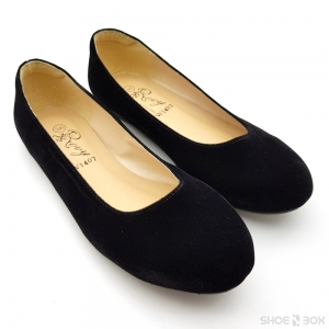 รองเท้าคัชชูส้นแบนRovy [W1407] - Black