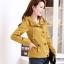 เสื้อกันหนาวผู้หญิงแฟชั่นเกาหลี สีเหลือง แจ็คเก็ตมีฮู้ด ตกแต่งลายจุด สวยๆ thumbnail 3