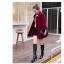 เสื้อโค้ทกันหนาวผู้หญิง สีไวน์แดง คอบัว ยาวคลุมสะโพก ทรงเก๋ ใส่กันหนาว สวยๆ thumbnail 2