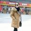เสื้อกันหนาวผู้หญิงแฟชั่นเกาหลี สีกากี แจ็คเก็ตมีฮู้ด มีเฟอร์ขนสัตว์ ถอดได้ หนาวๆ เอาอยู่ thumbnail 1