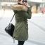 เสื้อกันหนาวผู้หญิงแฟชั่นเกาหลี สีเขียวทหาร แจ็คเก็ตมีฮู้ด มีเฟอร์ขนสัตว์ ถอดได้ หนาวๆ เอาอยู่ thumbnail 2