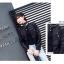 เสื้อแจ็คเก็ตหนังผู้หญิง แฟชั่นเกาหลี สีดำ แจ็คเก็ตหนัง PU คอกลม สไตล์ Biker Girls สุดคลาสิค thumbnail 5