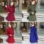 เสื้อโค้ทกันหนาวผู้หญิง สีน้ำเงิน คอจีน ยาวคลุมสะโพก ใส่เที่ยวต่างประเทศ สวยๆ thumbnail 4