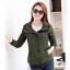 เสื้อกันหนาวผู้หญิงแฟชั่นเกาหลี สีเขียวทหาร แจ็คเก็ตมีฮู้ด ตกแต่งลายจุด สวยๆ thumbnail 4
