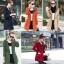 เสื้อกันหนาวผู้หญิงแฟชั่นเกาหลี สีแดง แจ็คเก็ตกันลมฮู้ดลายสก๊อต thumbnail 5