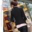 เสื้อสูทผู้หญิง เสื้อสูทแฟชั่น สีดำ แขนยาว คอปก ใส่ลำลอง หรือใส่ทำงานได้ thumbnail 3