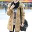 เสื้อกันหนาวผู้หญิงแฟชั่นเกาหลี สีกากี แจ็คเก็ตมีฮู้ด มีเฟอร์ขนสัตว์ ถอดได้ หนาวๆ เอาอยู่ thumbnail 2