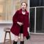 เสื้อโค้ทกันหนาวผู้หญิง สีไวน์แดง คอบัว ยาวคลุมสะโพก ทรงเก๋ ใส่กันหนาว สวยๆ thumbnail 1