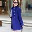 เสื้อโค้ทกันหนาวผู้หญิง สีน้ำเงิน คอจีน ยาวคลุมสะโพก ใส่เที่ยวต่างประเทศ สวยๆ thumbnail 1