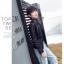 เสื้อแจ็คเก็ตหนังผู้หญิง แฟชั่นเกาหลี สีดำ แจ็คเก็ตหนัง PU คอกลม สไตล์ Biker Girls สุดคลาสิค thumbnail 2