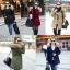 เสื้อกันหนาวผู้หญิงแฟชั่นเกาหลี สีกรม แจ็คเก็ตมีฮู้ด มีเฟอร์ขนสัตว์ ถอดได้ หนาวๆ เอาอยู่ thumbnail 4
