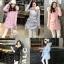 เสื้อกันหนาวผู้หญิงแฟชั่นเกาหลี สีชมพูพีช แจ็คเก็ตมีเฟอร์รอบฮู้ด ยาวคลุมสะโพก หนาวนี้ เอาอยู่ thumbnail 5