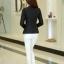 เสื้อสูทผู้หญิง เสื้อสูทแฟชั่น สีดำ แขนยาว คอปก เนื้อผ้ามันวาว เนี๊ยบๆ thumbnail 4