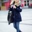 เสื้อกันหนาวผู้หญิงแฟชั่นเกาหลี สีกรม แจ็คเก็ตมีฮู้ด มีเฟอร์ขนสัตว์ ถอดได้ หนาวๆ เอาอยู่ thumbnail 2