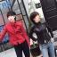 เสื้อแจ็คเก็ตหนังผู้หญิง แฟชั่นเกาหลี สีดำ แจ็คเก็ตหนัง PU คอจีน เท่ๆ สุดคลาสสิค thumbnail 5