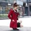 เสื้อกันหนาวผู้หญิงแฟชั่นเกาหลี สีแดง แจ็คเก็ตกันลมฮู้ดลายสก๊อต thumbnail 3