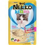 Nekko Kitten อาหารลูกแมว รสทูน่ามูสผสมนมแพะ