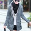 เสื้อกันหนาวผู้หญิงแฟชั่นเกาหลี สีเทา แจ็คเก็ตมีฮู้ด ซับบุขนสัตว์