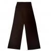 กางเกงขายาวสีน้ำตาลเข้ม ทรงกระบอก ผ้าฮานาโกะ เอวสูง แมทช์กับเสื้อแบบไหนก็สวย ใส่ทำงาน ใส่เที่ยว ใส่ออกงาน