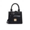 กระเป๋าถือ/สะพายข้างสีดำ ทรงสี่เหลี่ยมสูง สวยเก๋ สไตล์วินเทจ