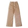 กางเกงขายาวสีครีมเบจ ทรงกระบอก ผ้าฮานาโกะ เอวสูง แมทช์กับเสื้อแบบไหนก็สวย ใส่ทำงาน ใส่เที่ยว ใส่ออกงาน