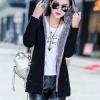 เสื้อกันหนาวผู้หญิงแฟชั่นเกาหลี สีดำ แจ็คเก็ตมีฮู้ด ซับบุขนสัตว์