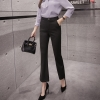 กางเกงขายาวสีดำ ทรงกระบอก ติดกระดุมหน้า สวยดูดี ใส่ทำงาน ใส่เที่ยวได้