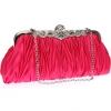 กระเป๋าคลัทช์ออกงานสีชมพูบานเย็น ทรงสีเหลี่ยมผืนผ้า จับจีบ ถือออกงาน ไปงานแต่งงาน ลุคเรียบๆ สวยเก๋